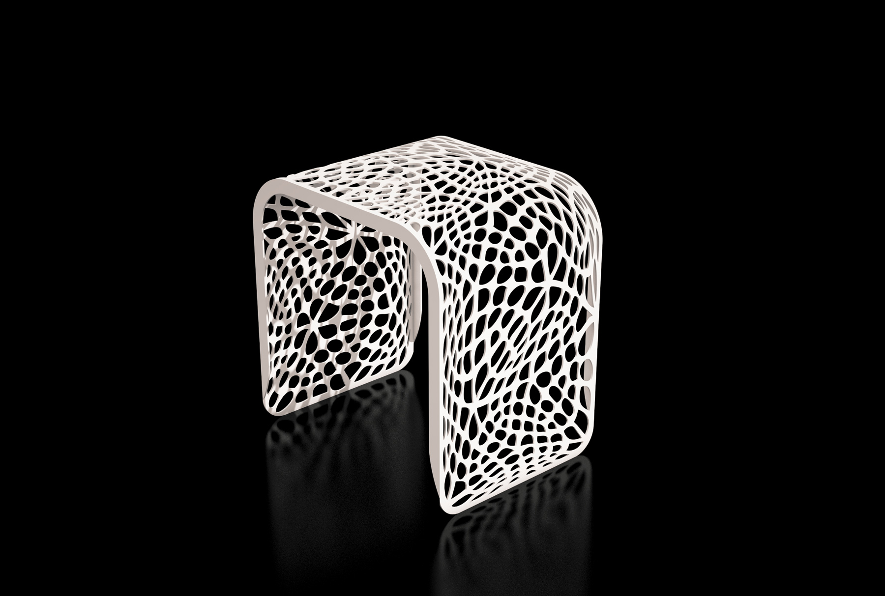 Arktura Coral Stool in Cream White