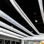Arktura Solution Studio LAX T-6 mesh linear lighting system.