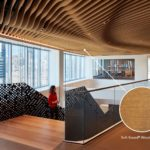 Arktura Atmosphera® Analog 3D installed in Mead Johnson in Soft Sound Wood