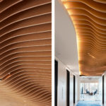 Arktura Atmosphera® Analog 3D in Soft Sound Wood installed in Mead Johnson