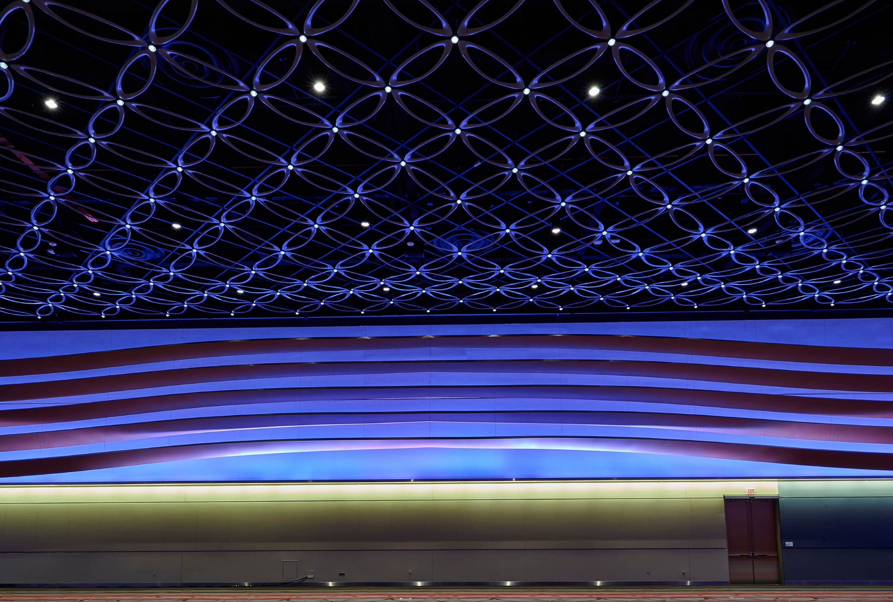 Arktura Solution Studio San Antonio Convention Center with an undulating aluminum petals with integrated lighting
