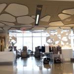 Arktura Solution Studio XpresSpa LAX ceiling and vertical panel petals