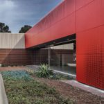 Arktura Graphic Perf® Scripted exterior facade