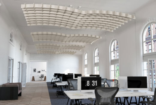 SoftGrid® Dome acoustical system installed in office
