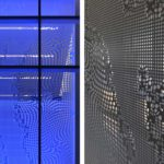 Arktura Solution Studio perforated screens in Mercedez Benz office