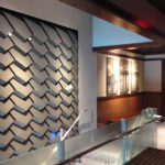 Arktura Solution Studio faceted wall in Red Lobster