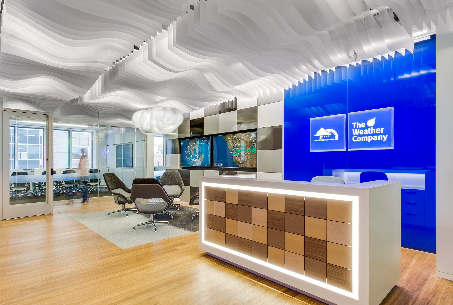 Arktura Atmosphera® Contour 3D installed in Weather Channel office