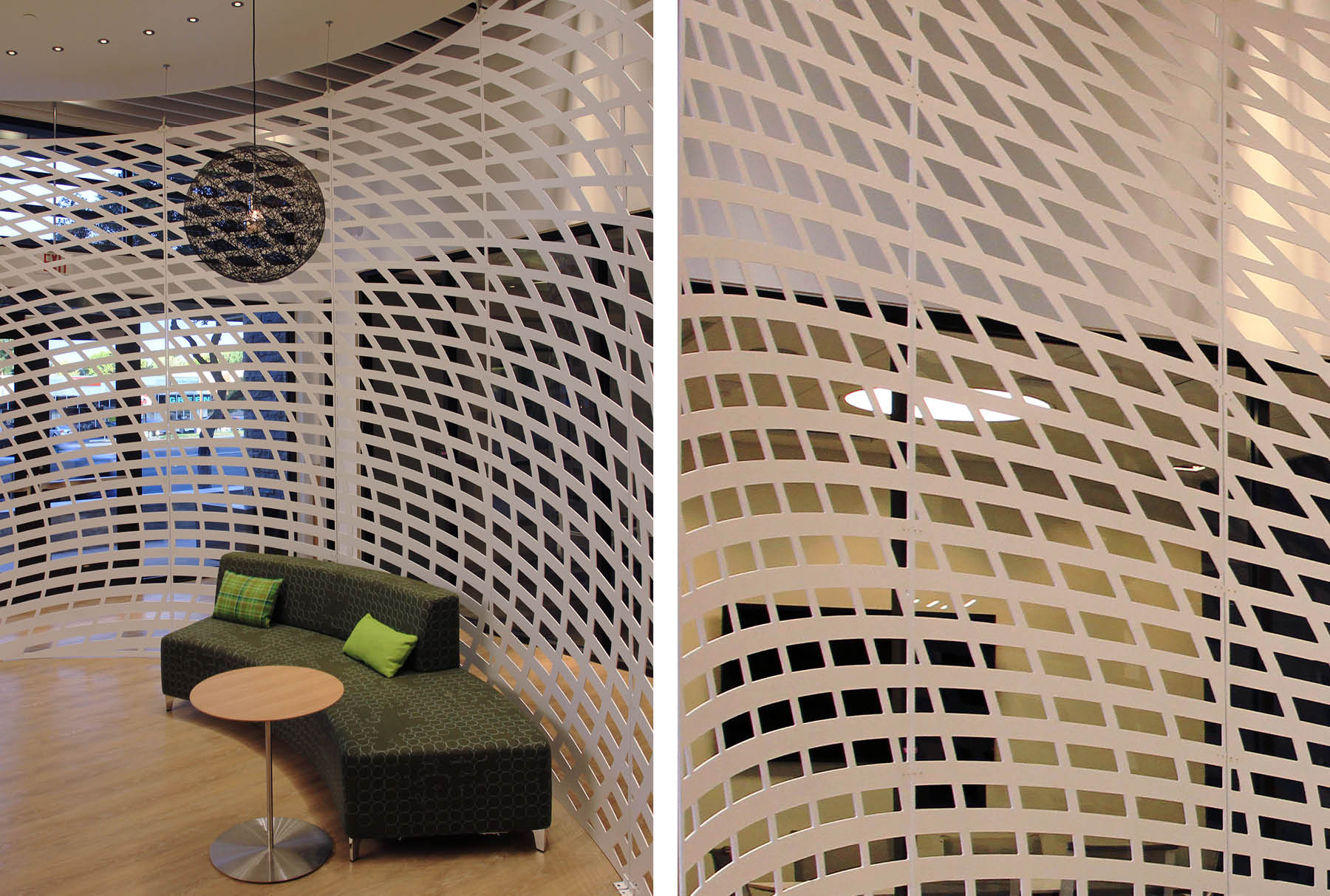 Arktura Solution Studio perforated screen in Lennar