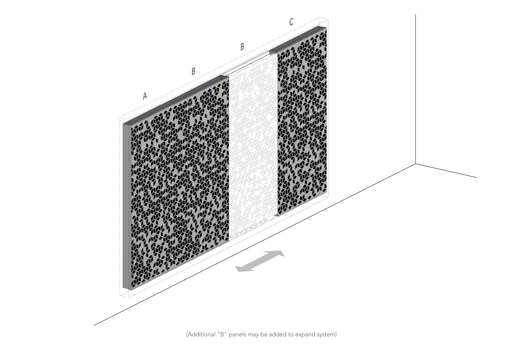 Arktura Graphic Perf® Standard Panels Cora axon layout
