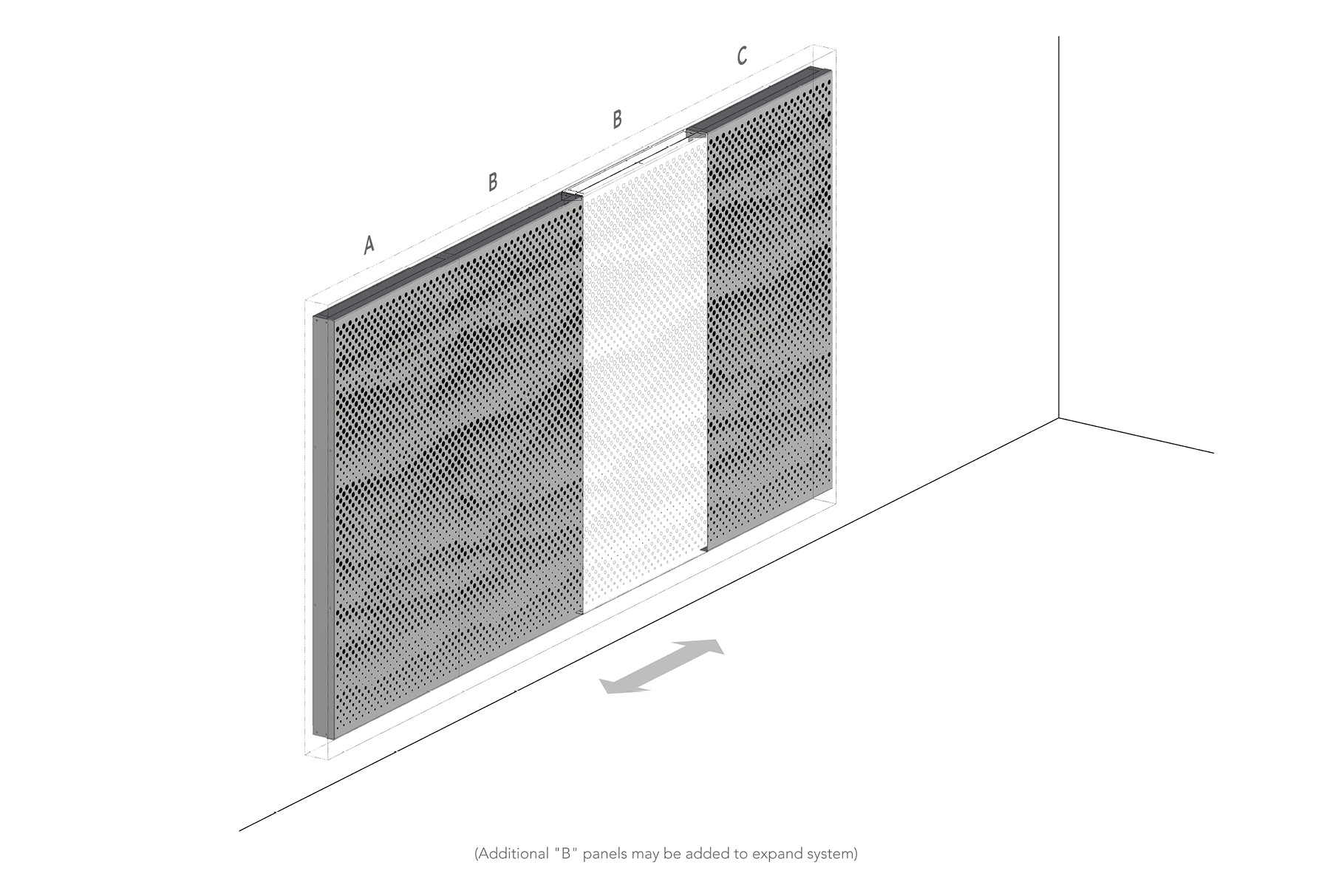 Arktura Graphic Perf® Standard Mist axon layout.