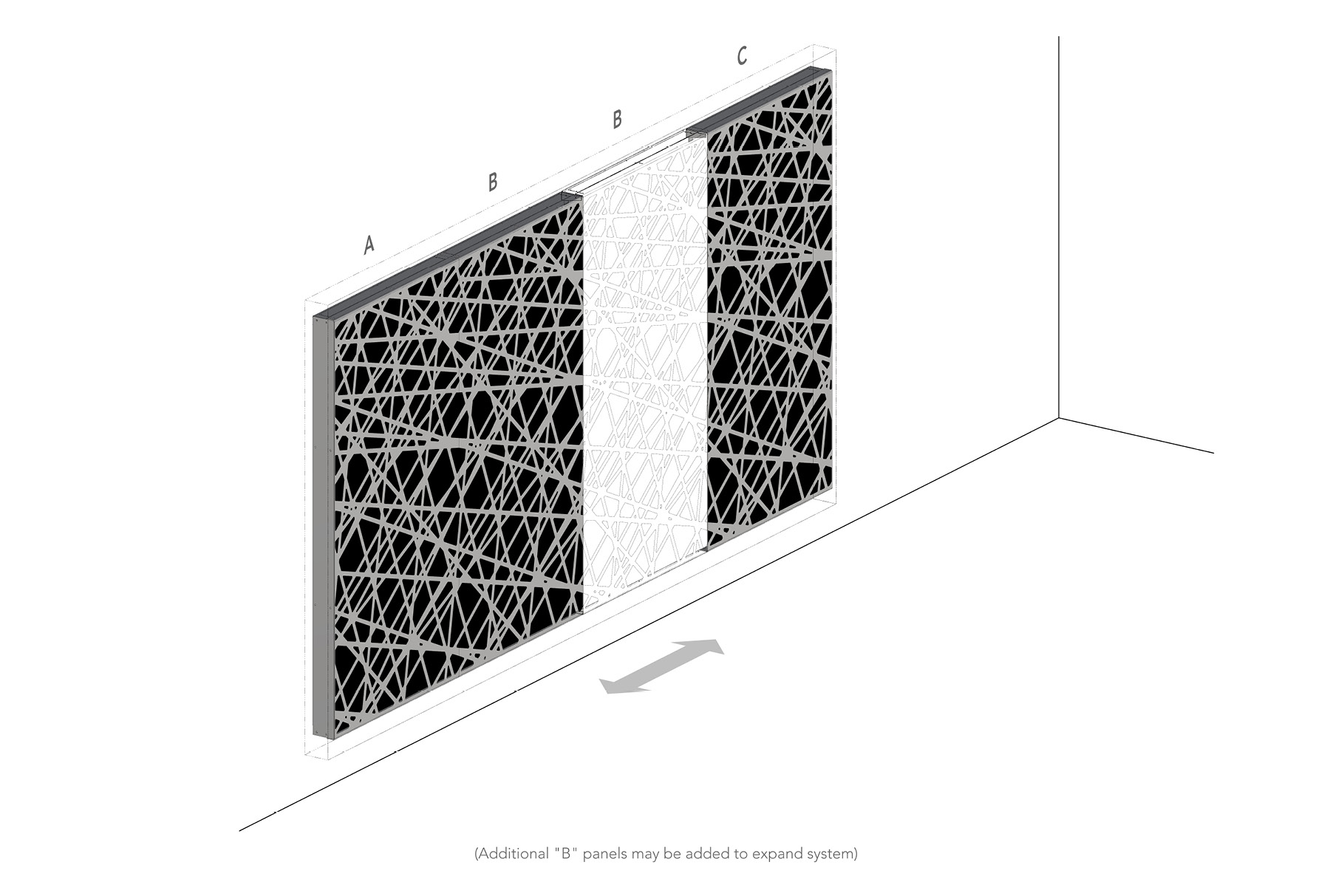 Arktura Graphic Perf® Standard Panels Trace axon layout