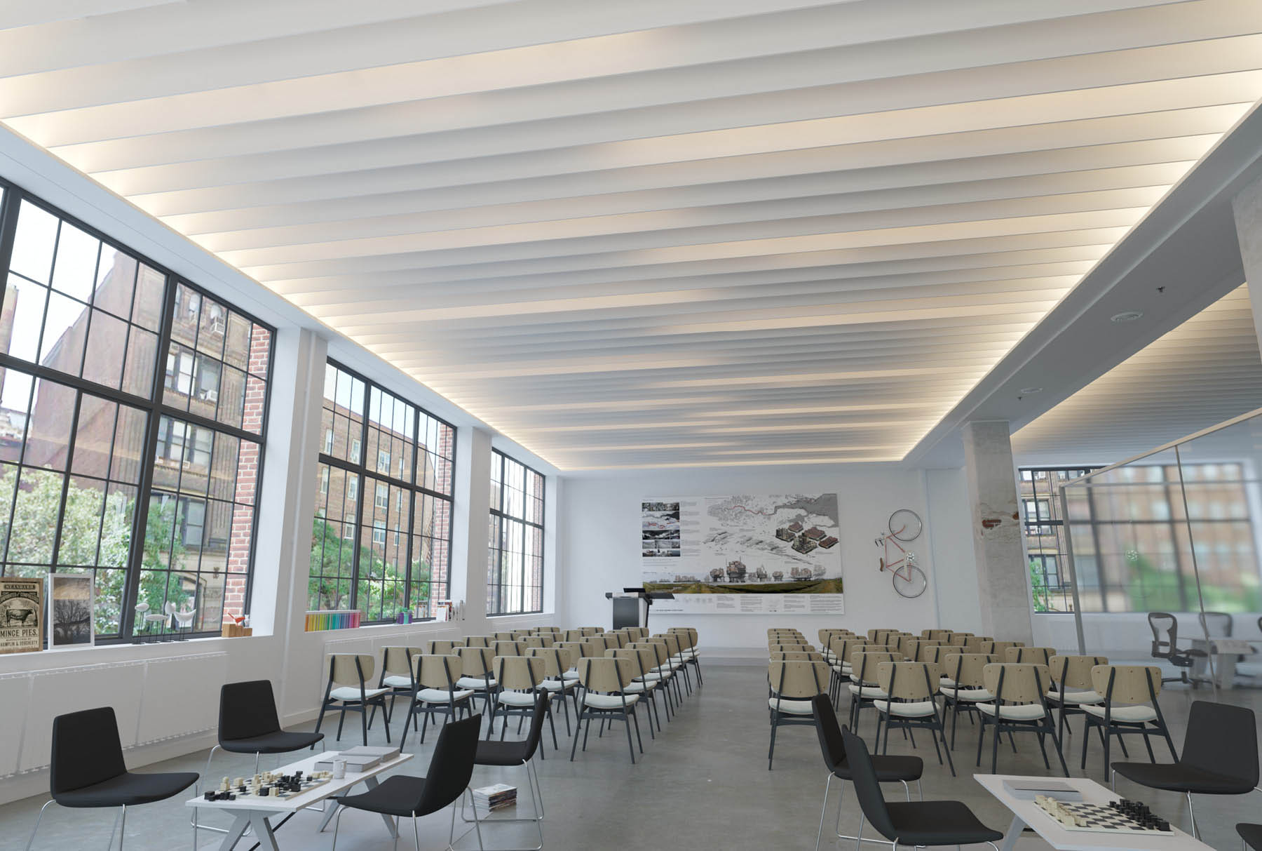 Atmosphera® Standard Linea above lecture space.