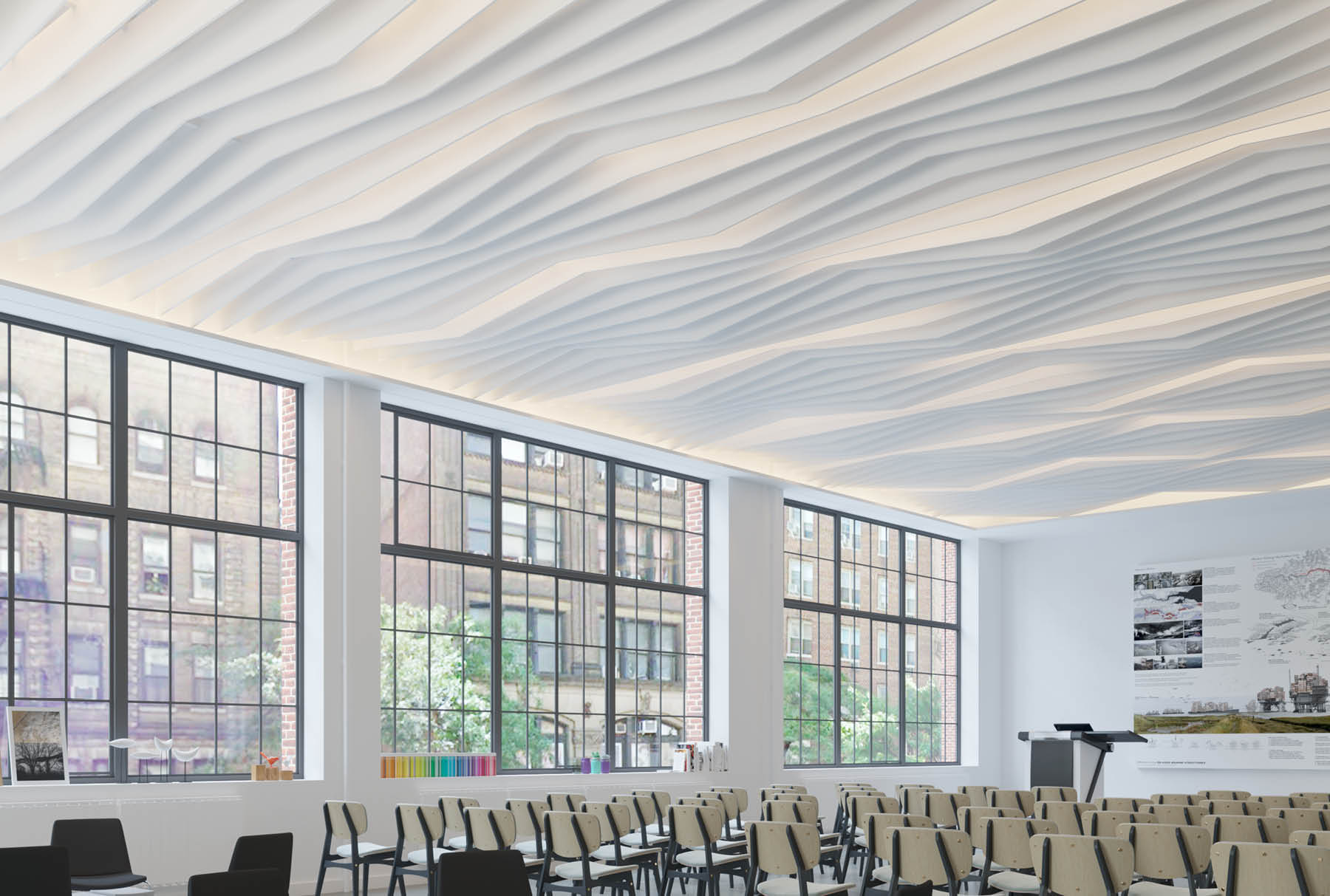 Atmosphera® Standard Rise above lecture space.