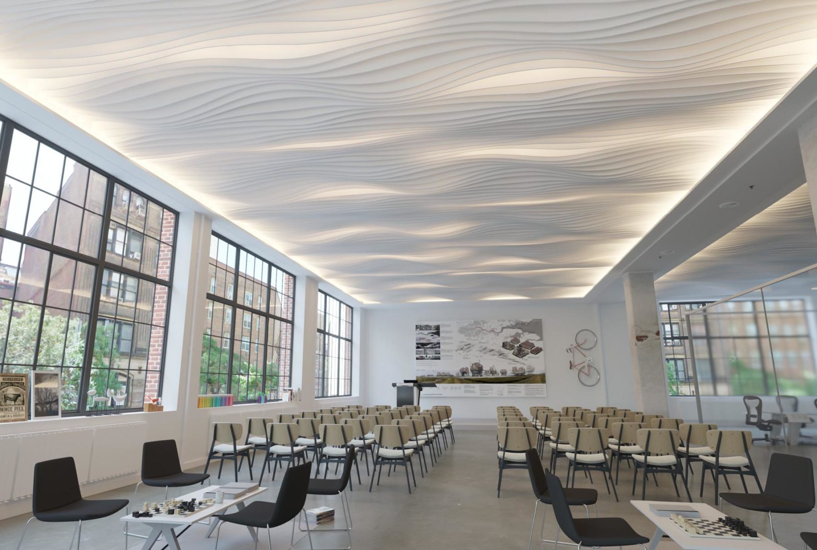 Atmosphera® Standard Drift above lecture space.