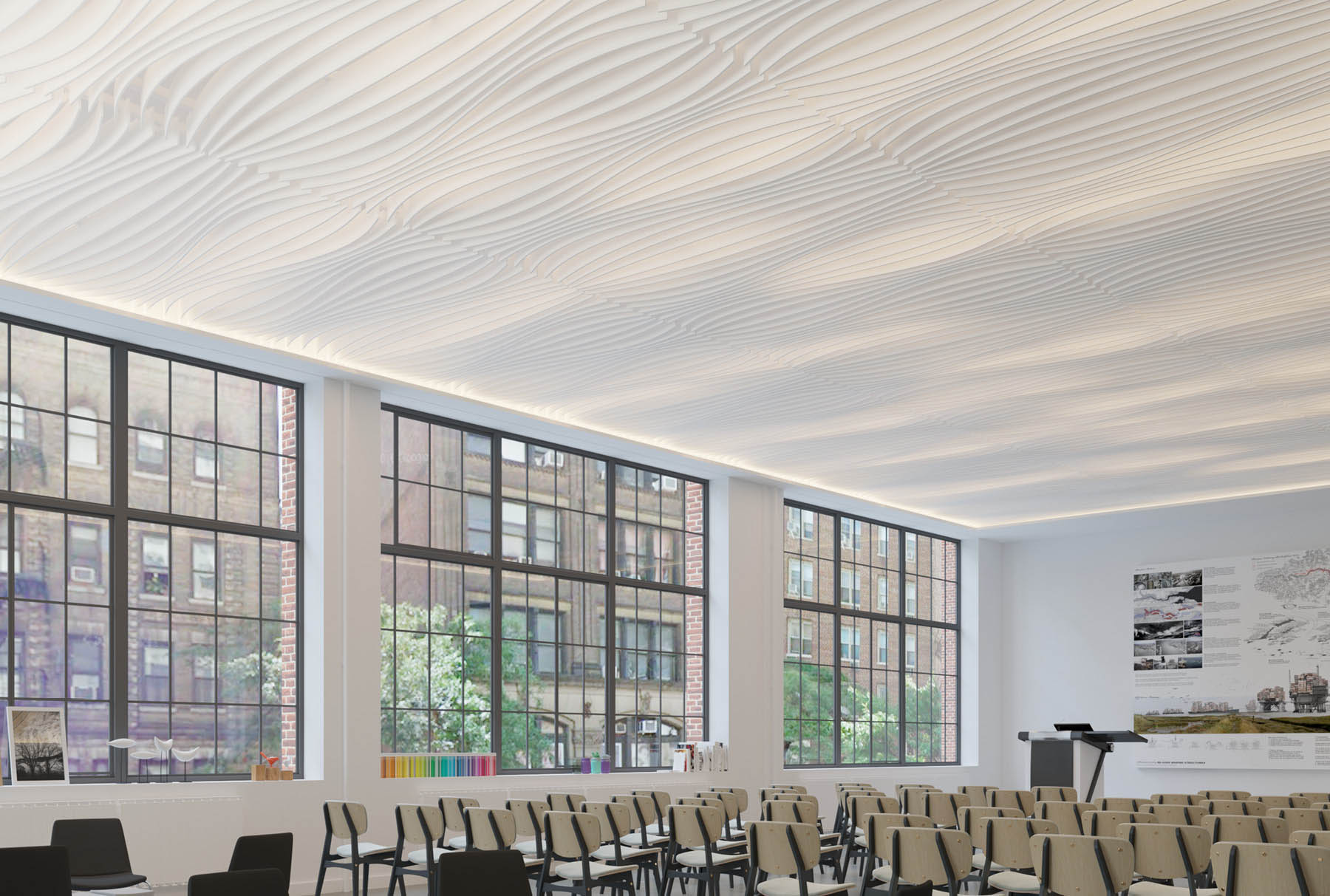Atmosphera® Standard Flow above lecture space.