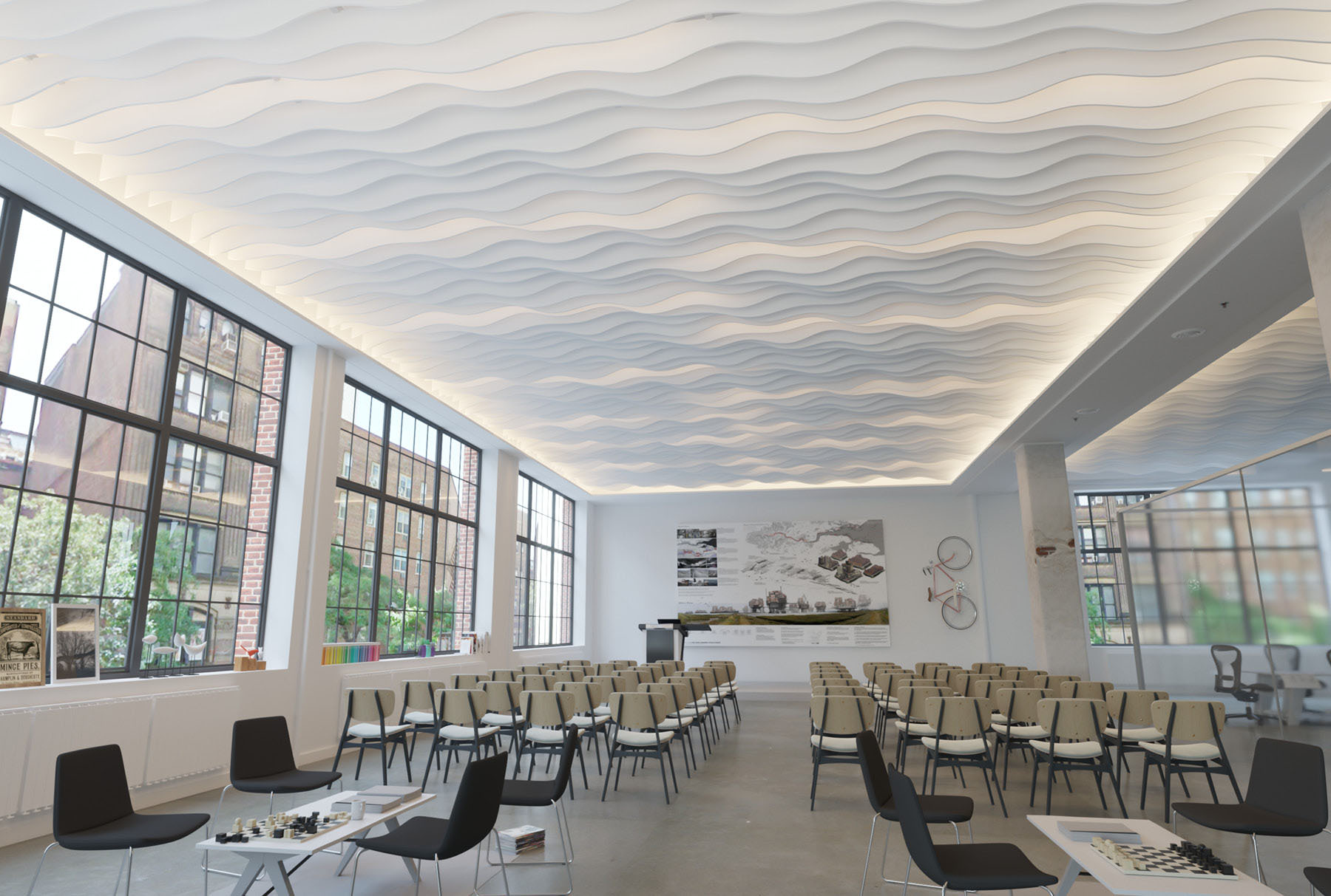 Atmosphera® Standard Surf above lecture space.