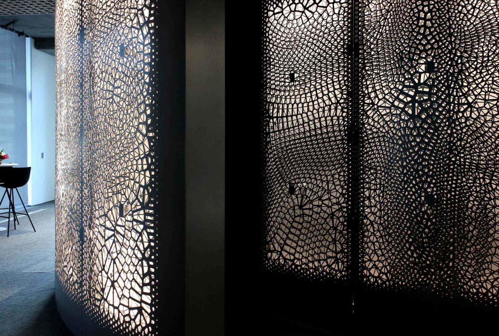 Arktura Solution Studio backlit perforated screens for IBM Watson