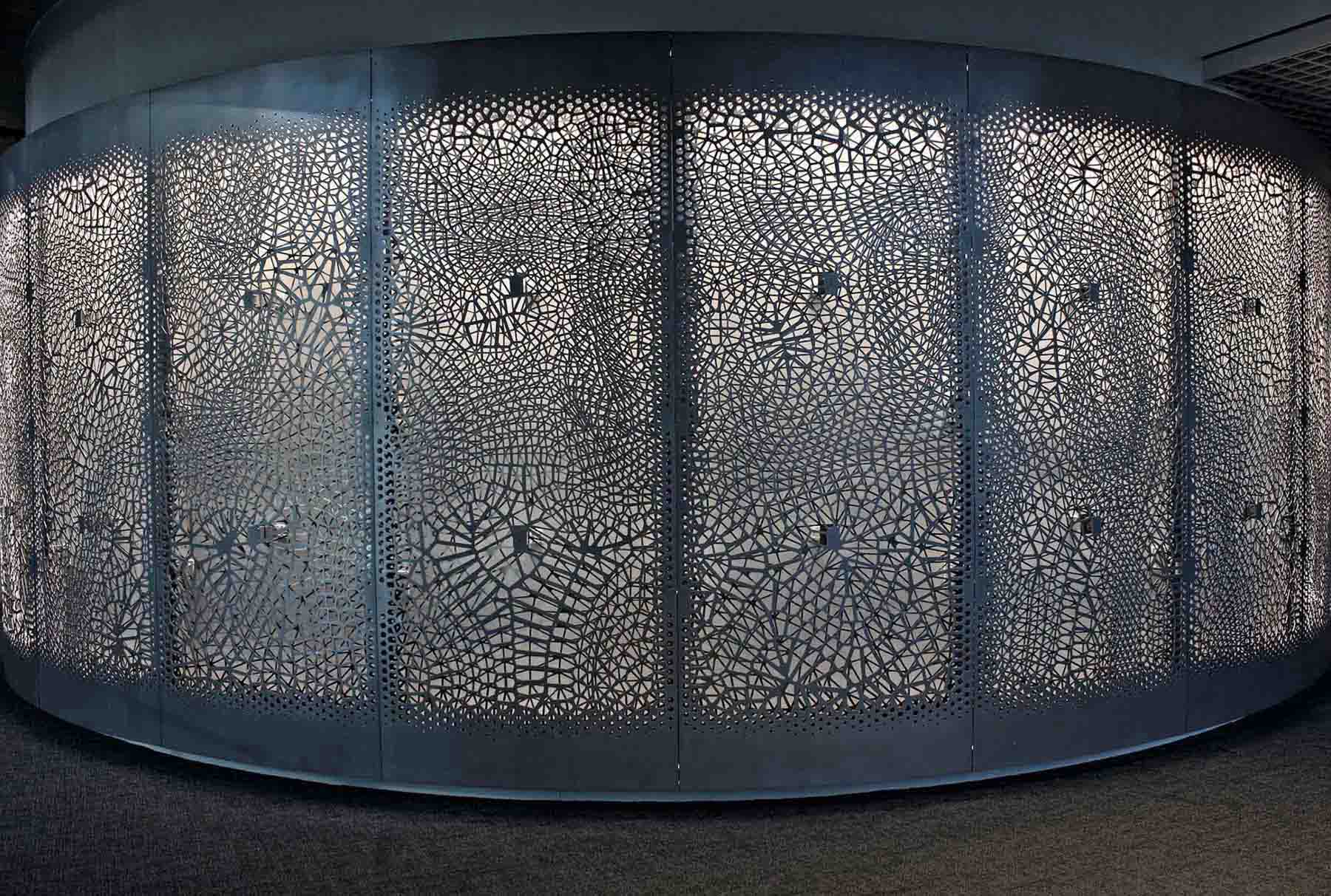 Arktura Solution Studio backlit perforated screens for IBM Watson