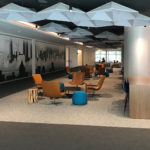 SoundStar faceted acoustical system installed in JP Morgan Chase Corporate Center's office.