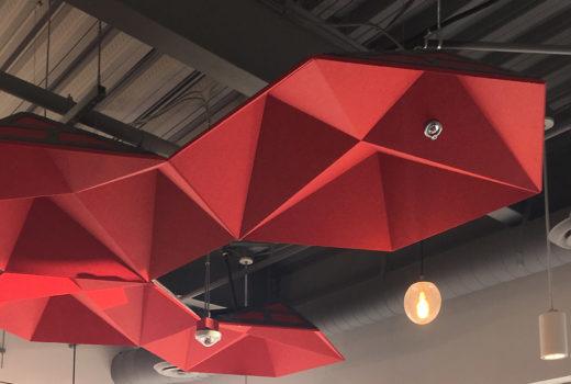 acoustic ceiling cloud panels Arktura-SoundStar-Red-