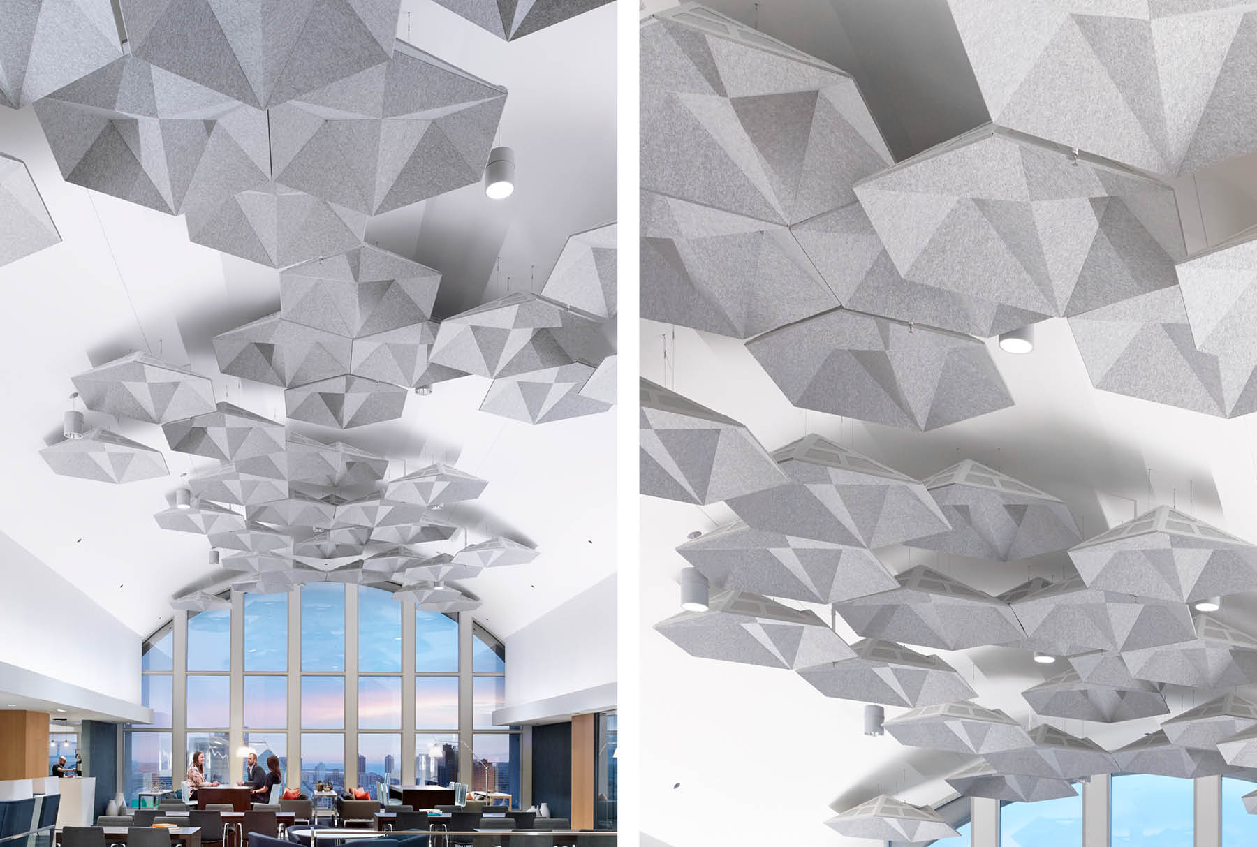 SoundStar® faceted, acoustical system installed in Cushman and Wakefield