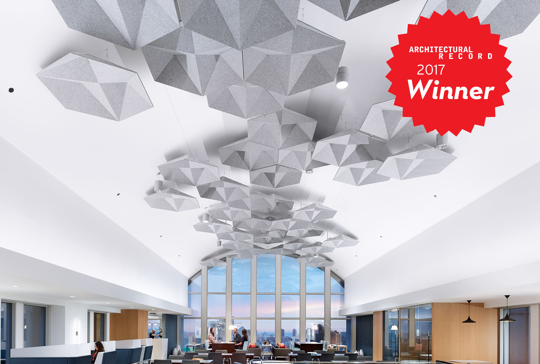 SoundStar® faceted, acoustical system is the 2017 Architectural Record winner