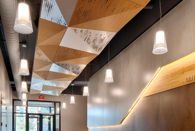 Acoustic Control: Two Ways - Wood Acoustic Ceiling Panels