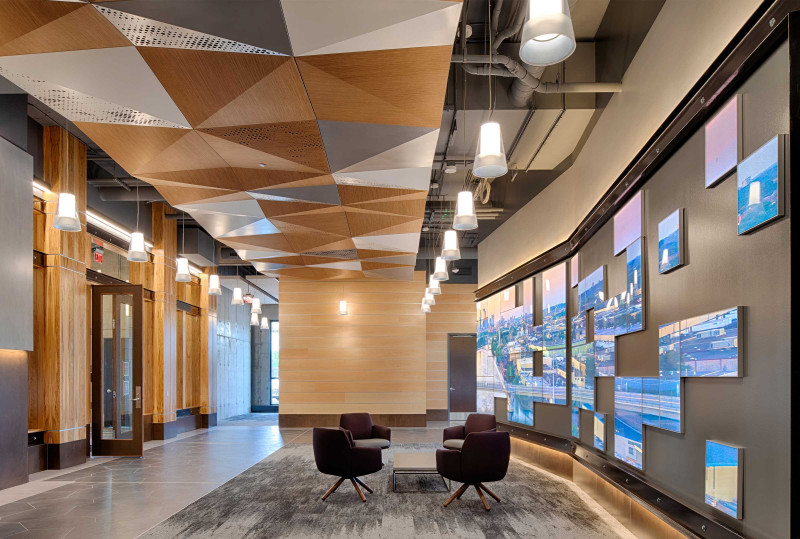 Floating Ceiling Panels - Arktura Delta Drop