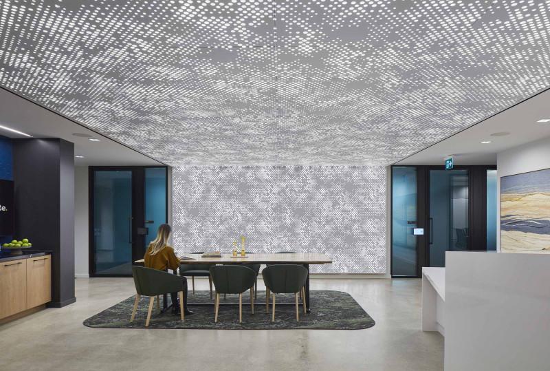 Perforated Screen Wall - Vapor® Cumula by Arktura
