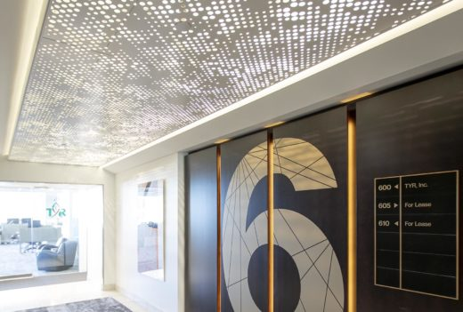 Arktura Vapor Cumula with backlight installed in office