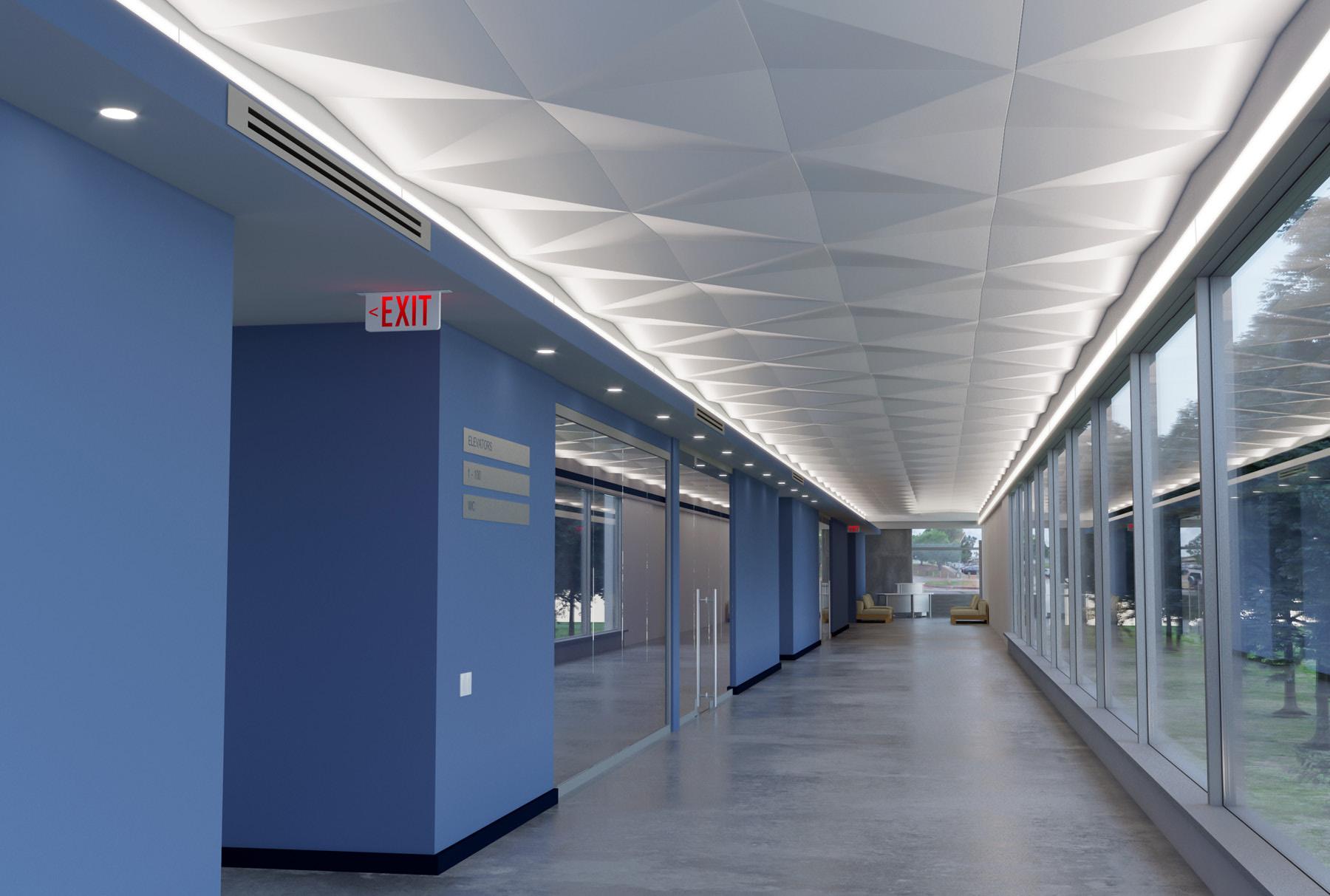 Delta Drop® 4x4 Full Solid installed above hallway