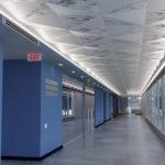 Delta Drop® 4x4 half pattern circle install above hallway