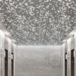 Arktura Vapor® Byte installed in elevator lobby.
