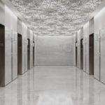 Arktura Vapor® Cumula installed in elevator lobby.