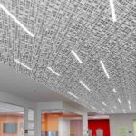 Trace® Slant with Soft Sound® backers and Arktura's InLine Integrated Lighting Close-up