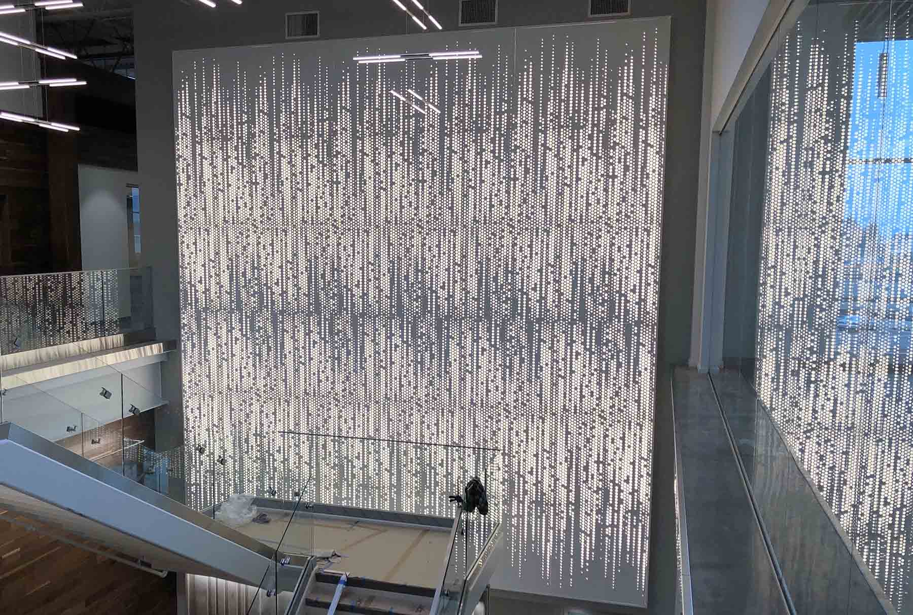 Arktura Vapor Graphic Perf backlit wall panels