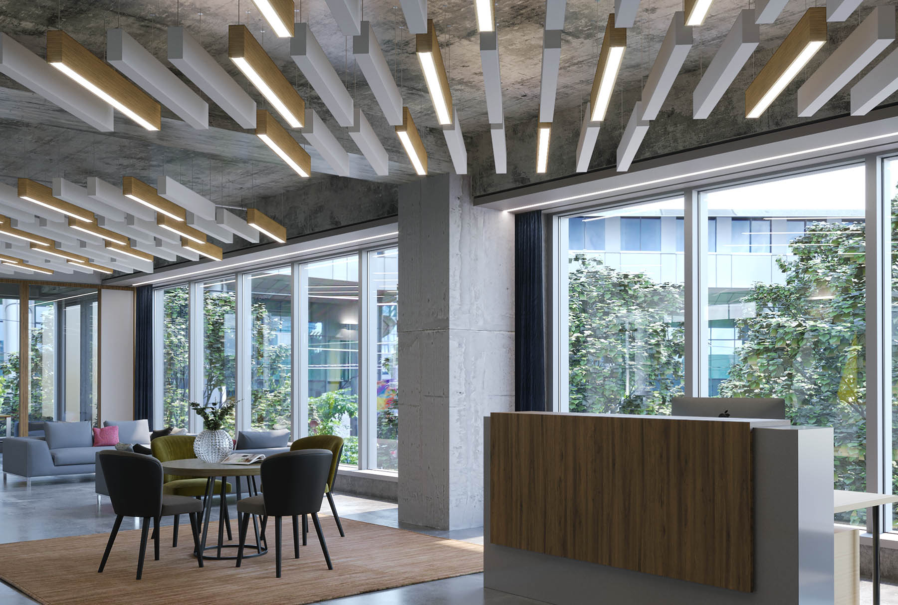 Arktura Trace 174 Straight Standard Ceiling Systems