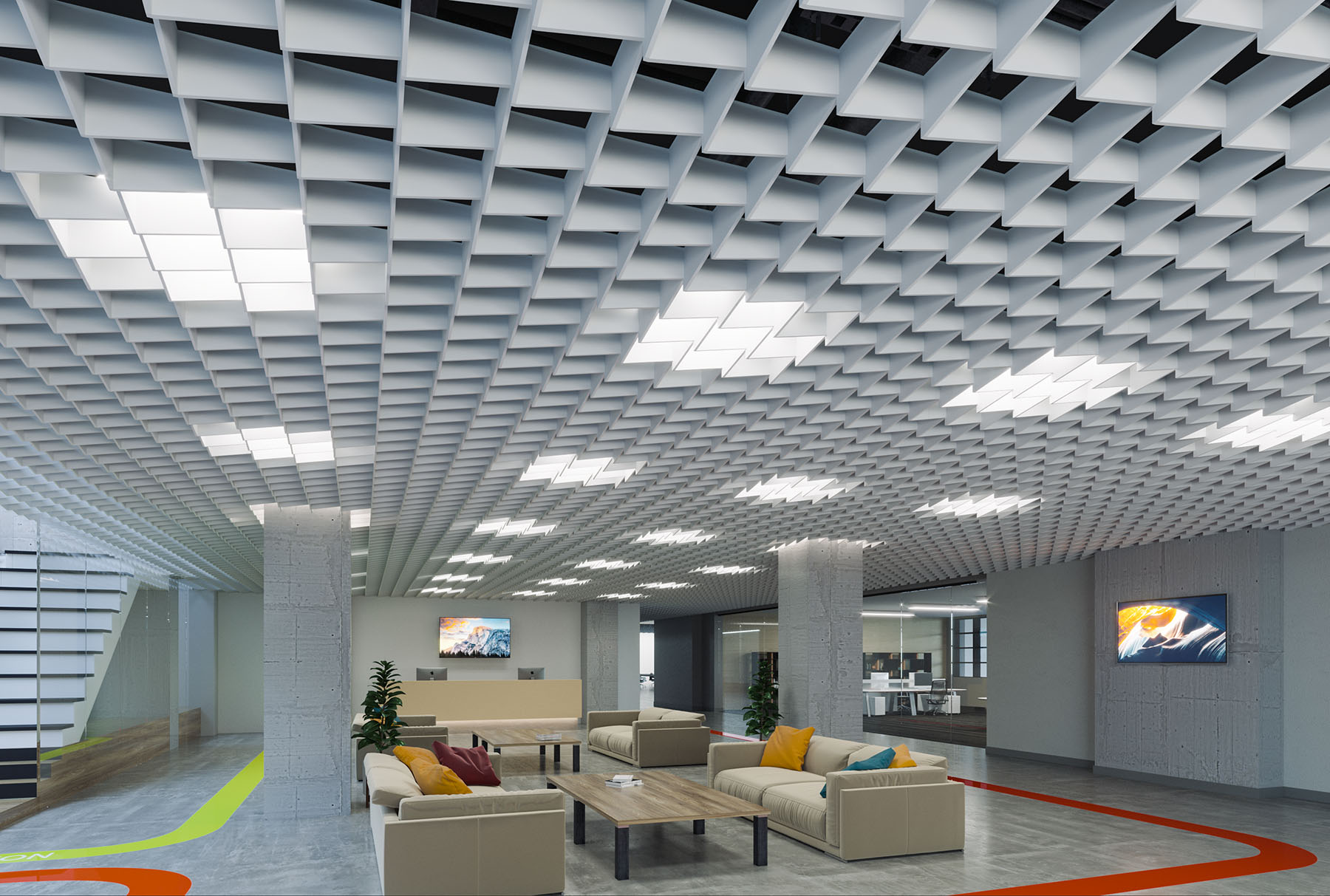 Arktura Softgrid 174 Scale Standard Ceiling Systems