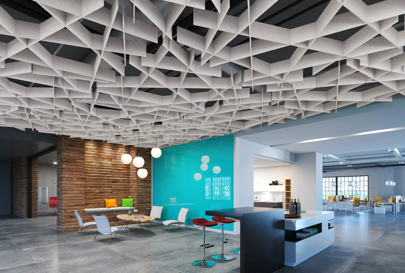 SoftGrid Scale in Office Building in Marble