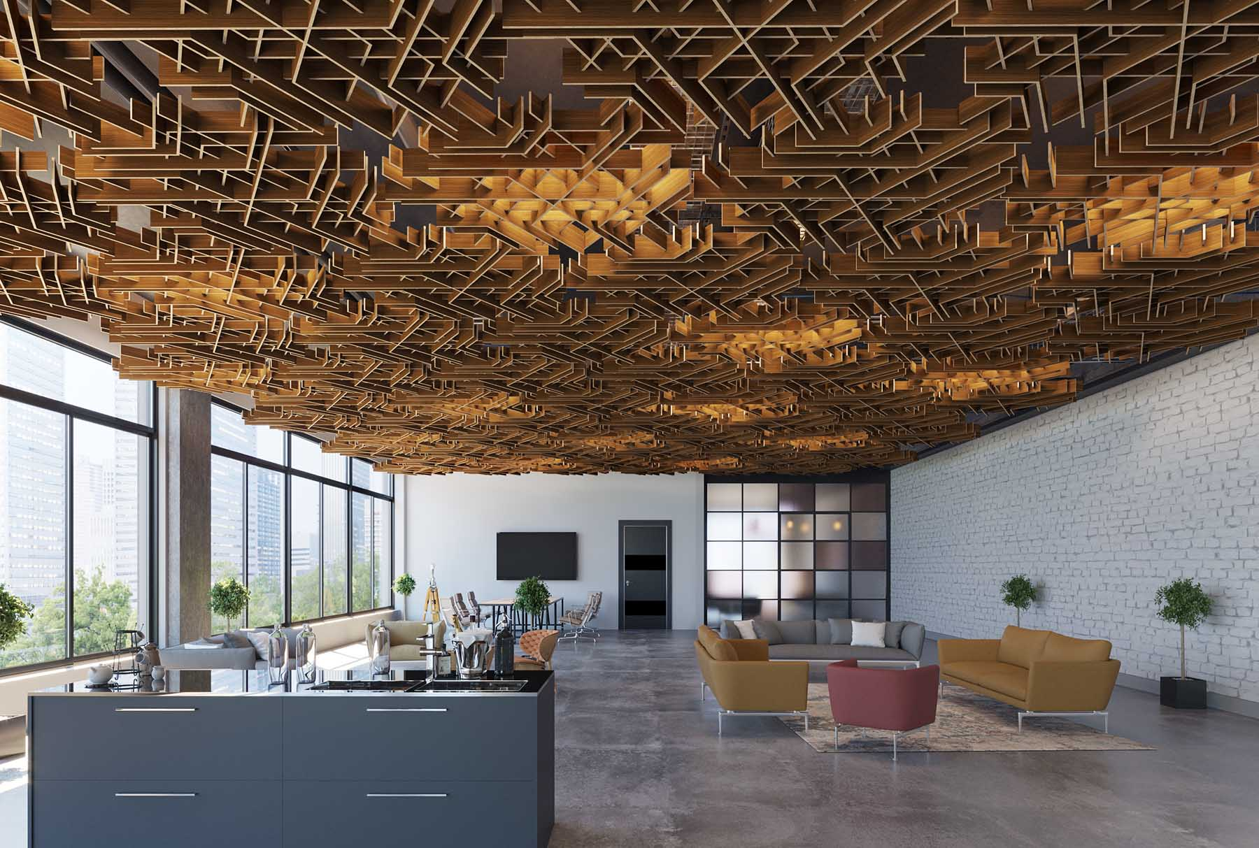 Image of: 17 Ways To Bring Decorative Ceiling Panels Into Your Office Decor Arktura
