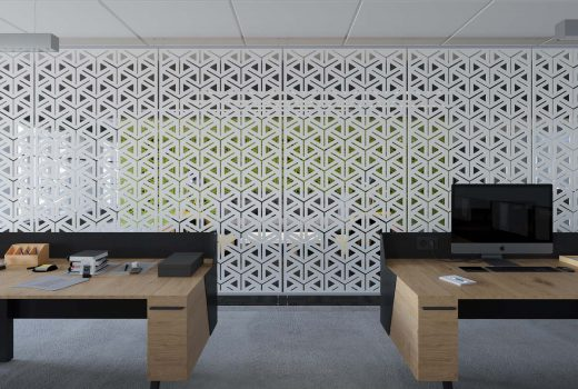 Perforated Screen Wall -  SoftScreen® Alcazar by Arktura