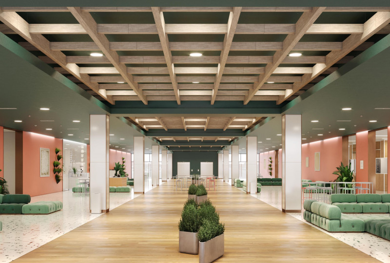 Softspan® 48 A Trellis Ceiling by Arktura