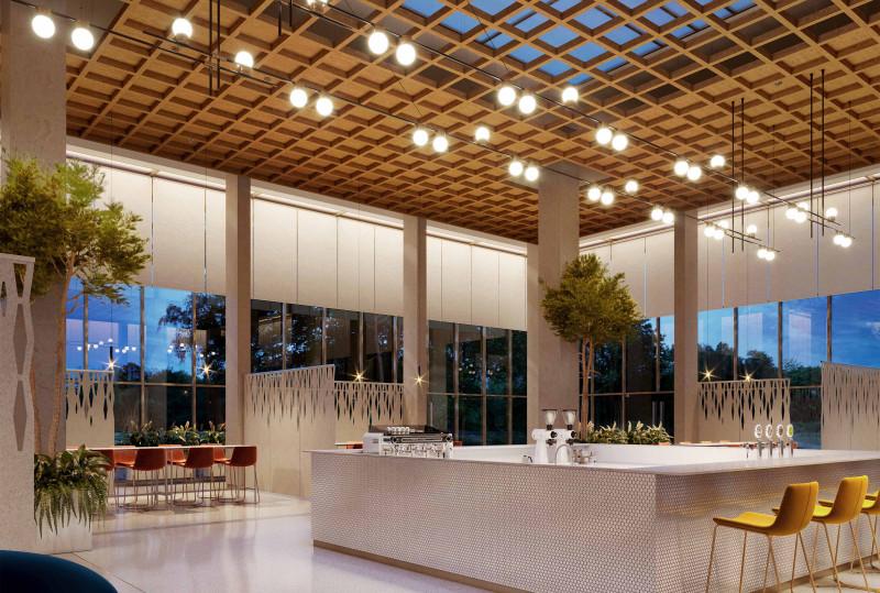 Incorporate a Trellis Design - Wood Acoustic Ceiling Panels
